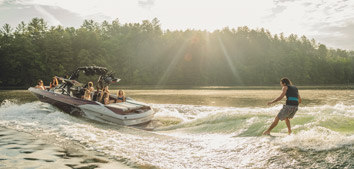 AXIS Wake boat on the water